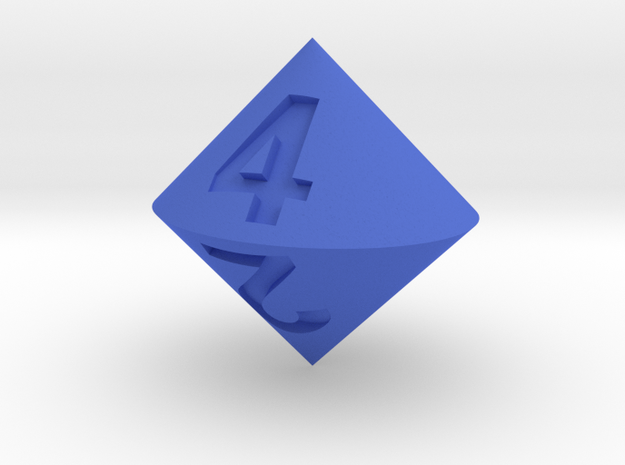 d4 Bicone in Blue Strong & Flexible Polished
