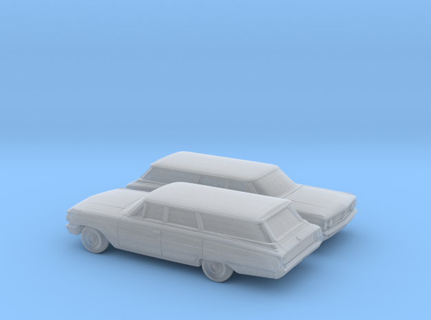 1/160 2X 1964 Ford Galaxie Station Wagon in Smooth Fine Detail Plastic