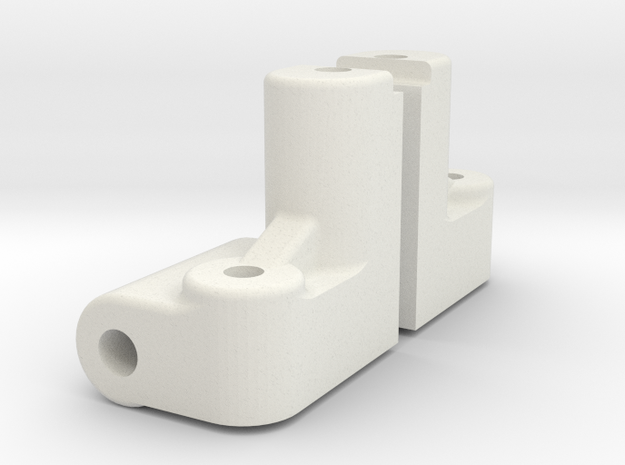 RC10DS Front Bulkheads in White Natural Versatile Plastic