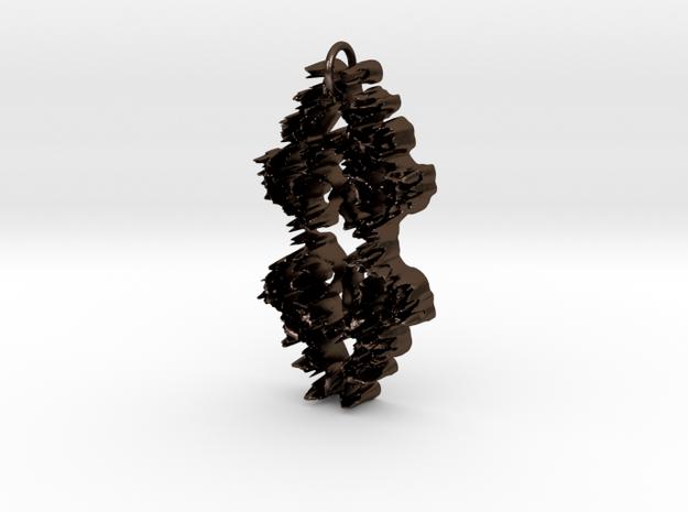 Scroll Pendant  in Polished Bronze Steel
