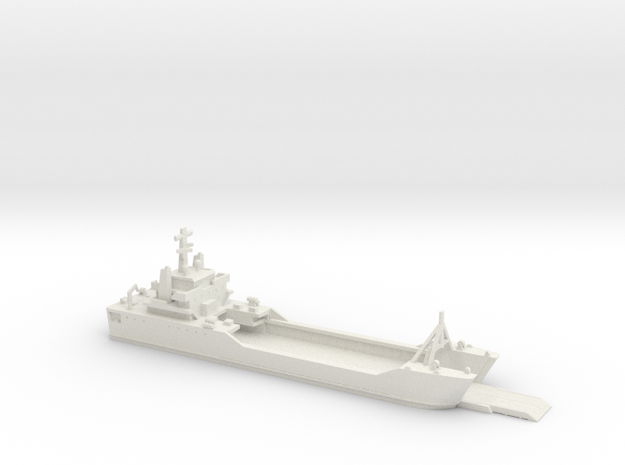 1/700 Scale Besson class LSV Ramp Down in White Strong & Flexible