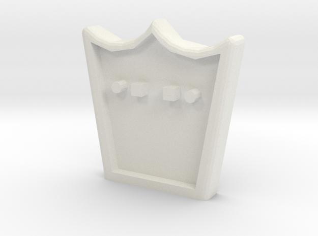 Anschlussplatte Zugmaschine (Variante 2) in White Natural Versatile Plastic