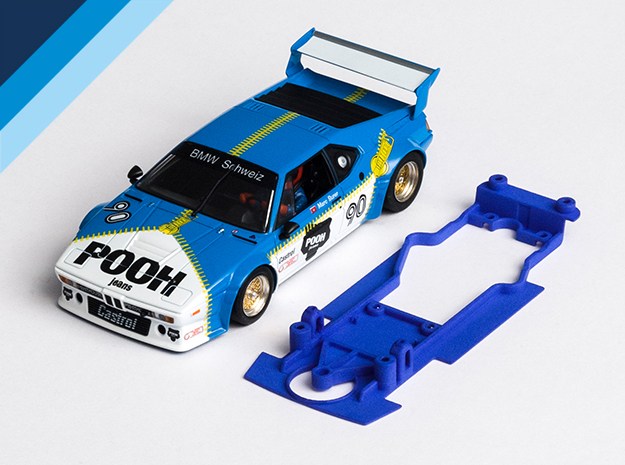 1/32 Chassis for Fly BMW M1 for Slot.it pod