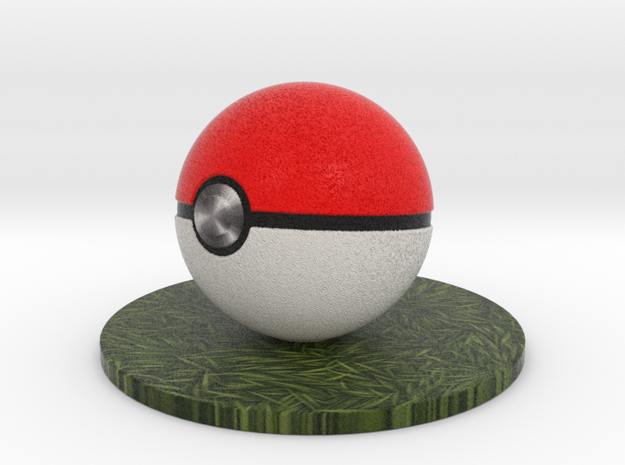 Pokeball in Full Color Sandstone