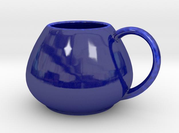 Coffee Mug v1 in Gloss Cobalt Blue Porcelain