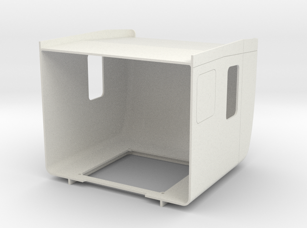 Pete style 70 Inch sleeper With Fairings in White Natural Versatile Plastic