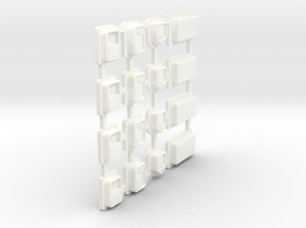 Cab Parts Tree in White Processed Versatile Plastic