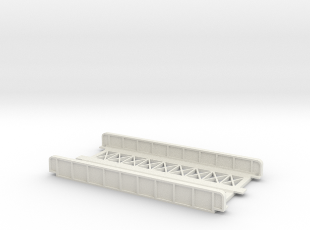 STRAIGHT 110mm DOUBLE TRACK VIADUCT in White Natural Versatile Plastic