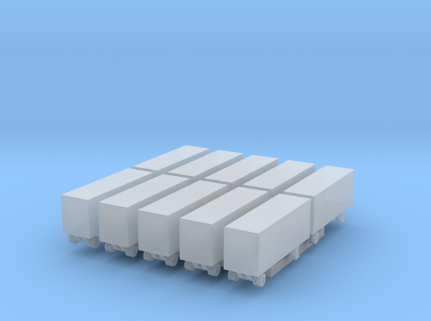 28 Foot Box Trailer - Set of 10 - 1:700scale