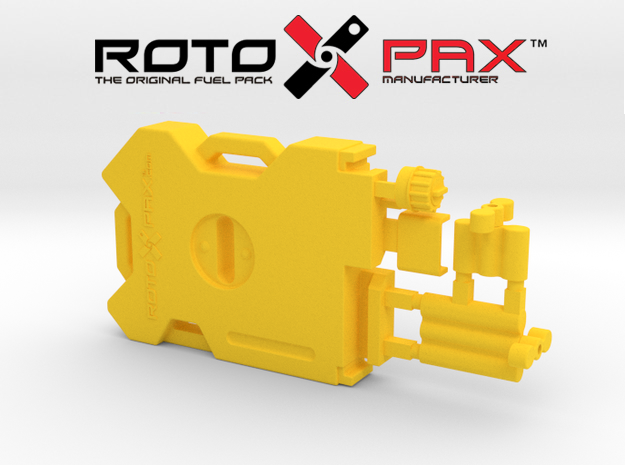 AJ10043 RotopaX 2 Gallon Fuel Pack - YELLOW in Yellow Processed Versatile Plastic