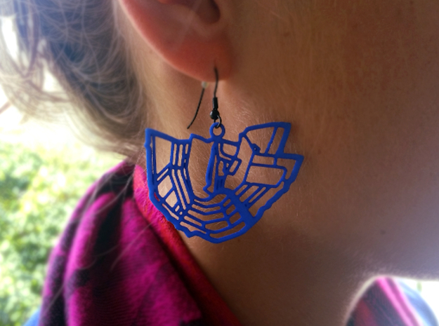 City of Amsterdam earrings in Blue Processed Versatile Plastic
