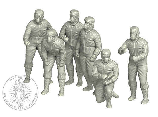 CLEAN ROOM WORKER SIXPACK in Smoothest Fine Detail Plastic: 1:72