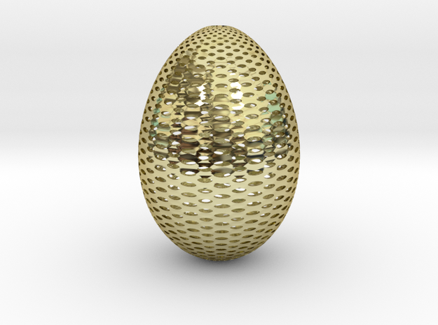 Designer Egg 2 in 18k Gold Plated Brass
