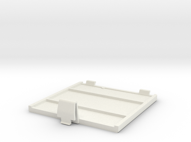 Gameboy Backdoor in White Natural Versatile Plastic