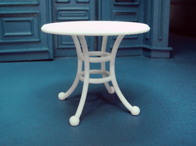1:24 Rod Iron Table in White Strong & Flexible