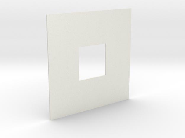 Sierpinski carpet Level 1  in White Strong & Flexible