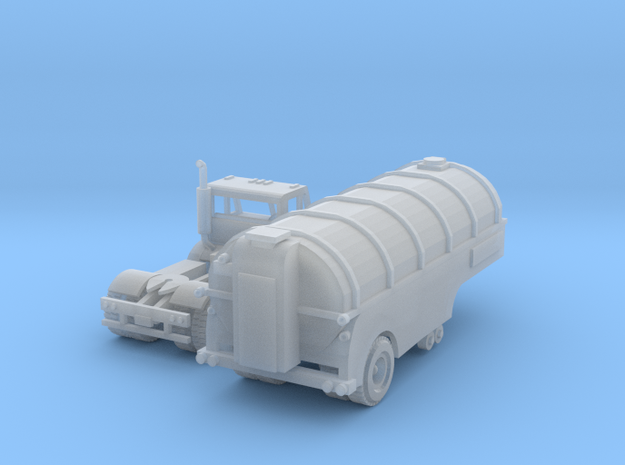 Milk Tank Truck Z Scale in Smooth Fine Detail Plastic