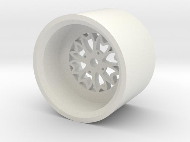 Sakura rim in White Natural Versatile Plastic: 1:18