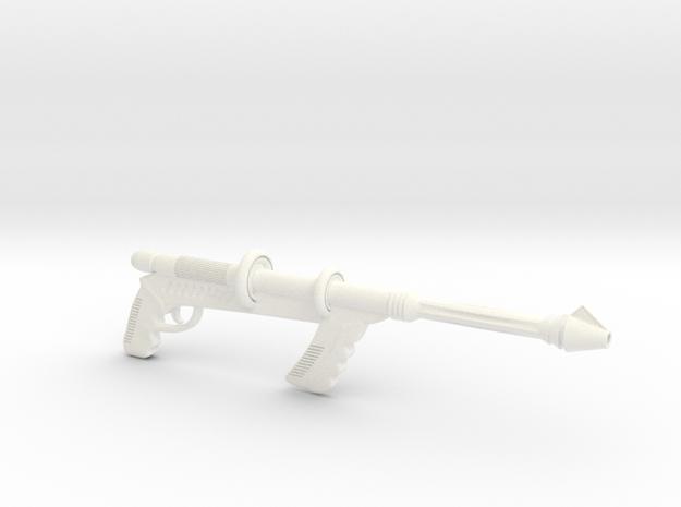 """Space Angel"" - Taurus' Blaster (1:6 Scale) in White Processed Versatile Plastic"