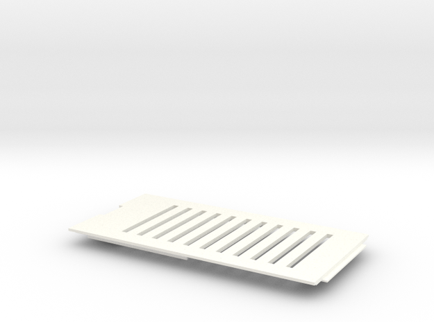 Amiga 1200 (A1200) Vented Trap Door in White Processed Versatile Plastic