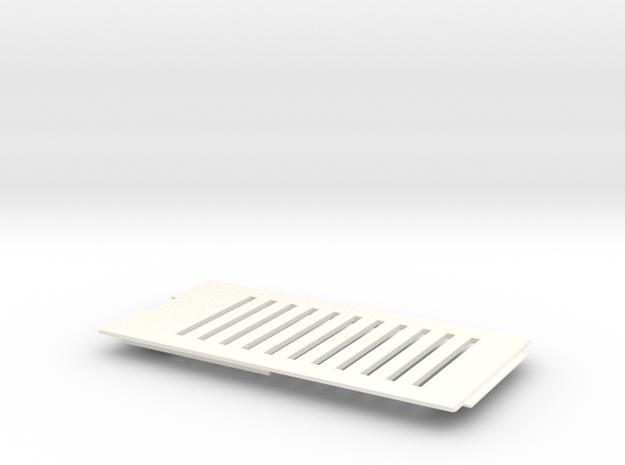 Amiga 1200 (A1200) Vented Trap Door in White Processed Versatile Plastic