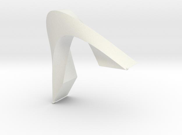 Bridge Art in White Natural Versatile Plastic