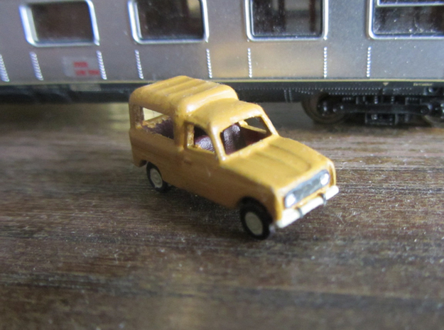 Renault 4 van in 1:160 scale (Lot of 4 cars) in Smooth Fine Detail Plastic