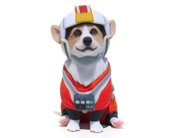 Corgi X-Wing Pilot in Full Color Sandstone