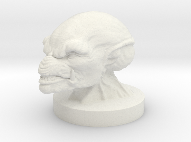 PumpkinHead Bust in White Natural Versatile Plastic