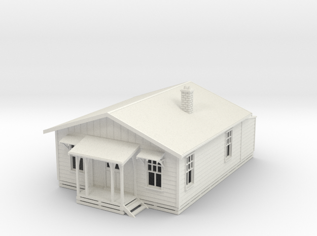 Railway Cottage NZ120 in White Natural Versatile Plastic