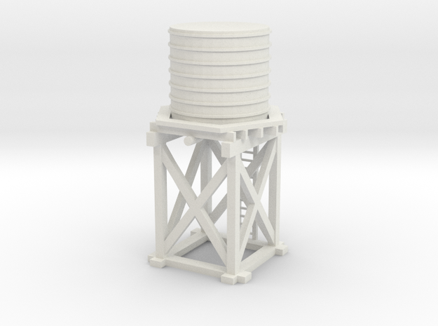 Water Tower Nz120 in White Natural Versatile Plastic