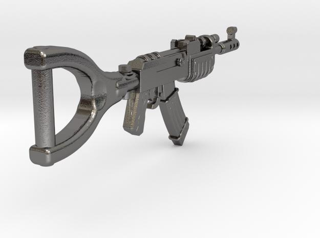 AK47 Origin KeyChain in Polished Nickel Steel