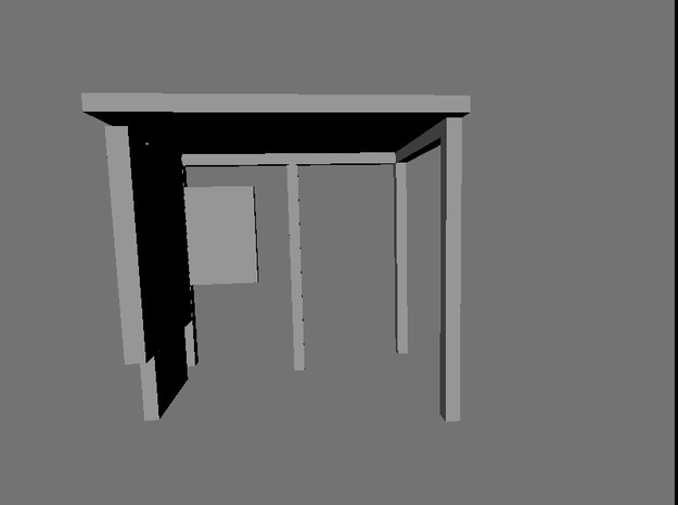 N Gauge Bus Shelter type 3 (4 pack) 3d printed