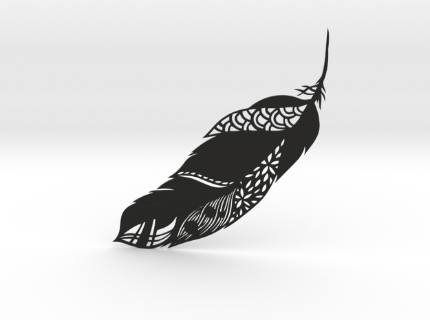 Feather Ornate in Black Natural Versatile Plastic