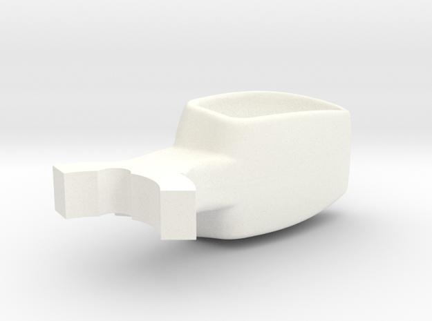 Donkey / Buffalo Brake Pedal insert. in White Strong & Flexible Polished
