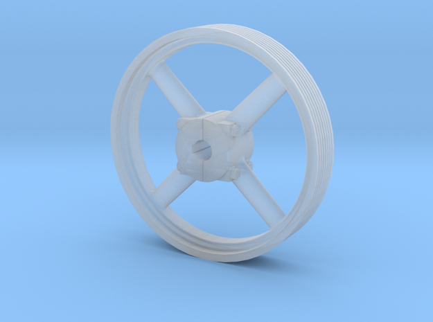 Four Spoke Pulley  in Smooth Fine Detail Plastic: 1:32