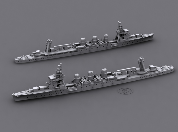 1/1800 IJN CL Nagara[1942] 3d printed Computer software render