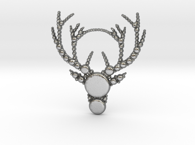 Reindeer Pattern in Natural Silver
