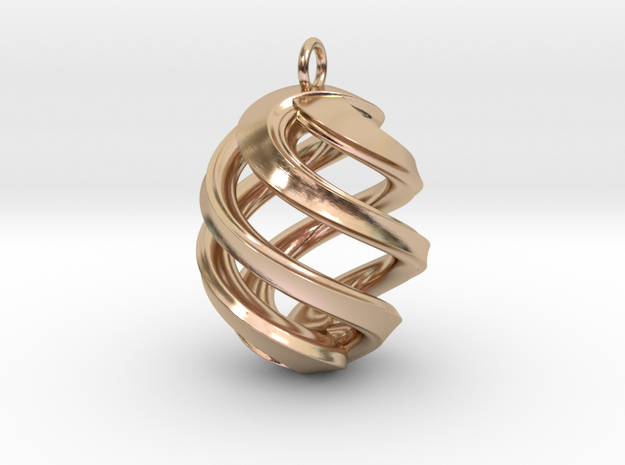 Conspire Pendant in 14k Rose Gold Plated Brass