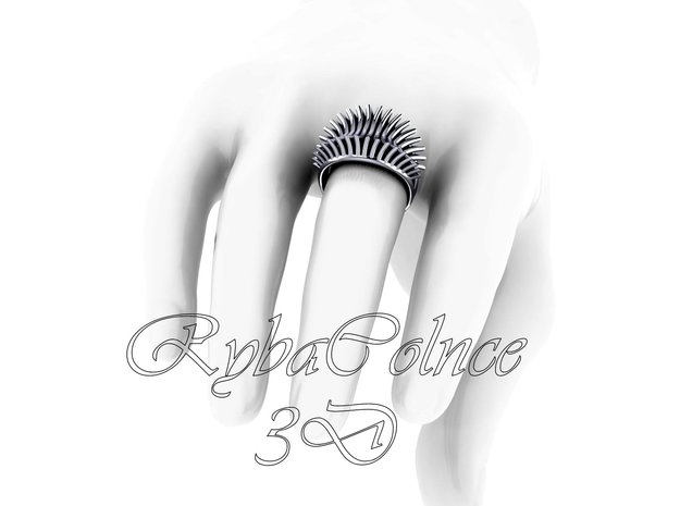 Ring The Iroquois\knuckle/size 16HK Model / 8 US ( in Polished Silver