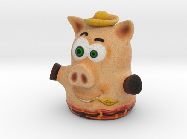 Three Little Pigs Puppet 003 in Full Color Sandstone