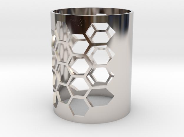 Honeycomb - The Loft Hair Salon in Rhodium Plated Brass