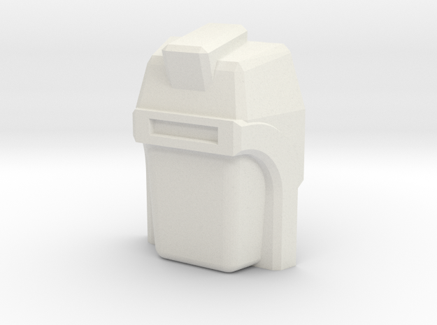 Vehicon, G1 Face (Titans Return) in White Natural Versatile Plastic