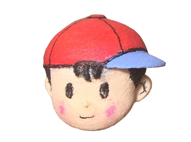 Custom Ness Head for Lego in White Natural Versatile Plastic