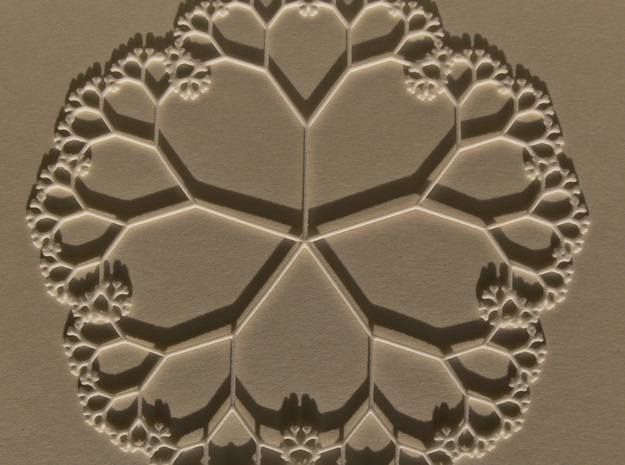 Fractal Tree Mat with the golden ratio proportions in White Natural Versatile Plastic