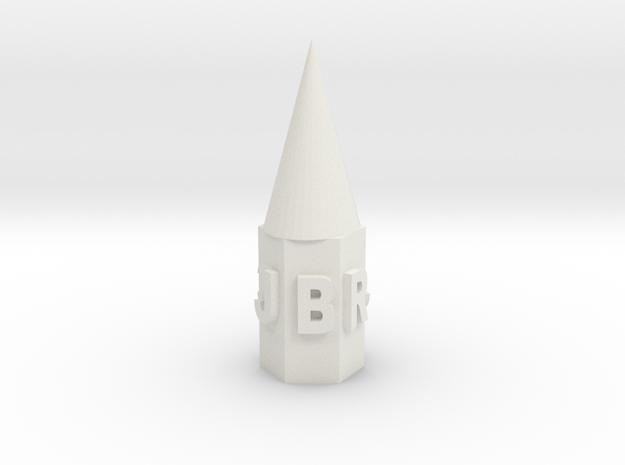 Connor's Pencil Topper in White Strong & Flexible: Extra Small