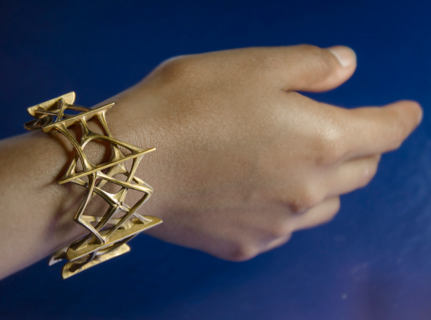 Synapse Bracelet in Polished Brass: Medium