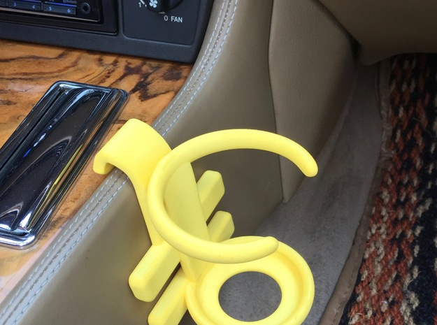 Jaguar XJS Cup Holder in White Strong & Flexible