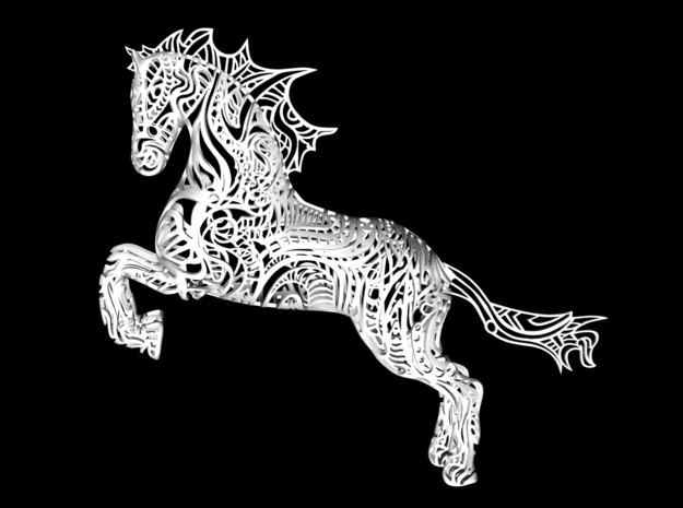 Rocinante horse sculpture - Customized in White Natural Versatile Plastic