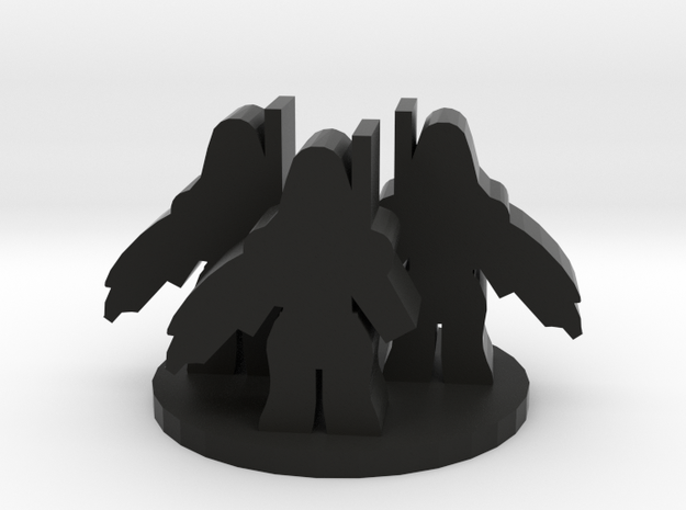 Game Piece, Alien Robot Troopers in Black Natural Versatile Plastic